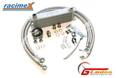 Racimex Ölkühler Kit 13 Reihen mit Stahlflexleitungen