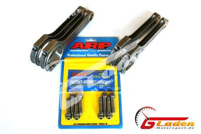 ARIAS Stahlpleuel H-Schaft 144 / 20mm + ARP 2000